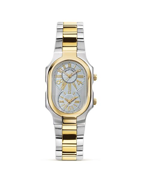 Lyst - Philip Stein Large Signature Two Tone Gold A Watch