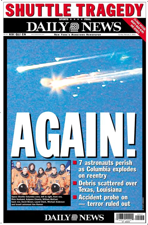 Space Shuttle Columbia disaster: shuttle disintegrates in