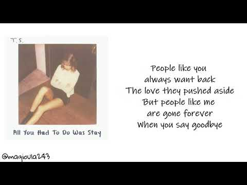 Taylor Swift, I Knew You Were Trouble Quote (About guess