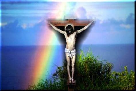 Christian rainbow jesus Free PPT Backgrounds for your