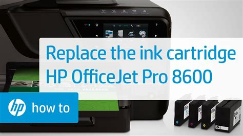 Replacing a Cartridge | HP Officejet Pro 8600 e-All-in-One
