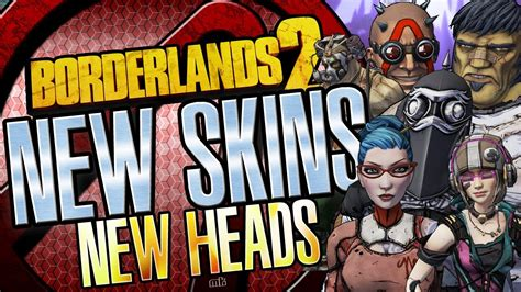 Borderlands 2 New DLC Skins and Heads Packs All Characters