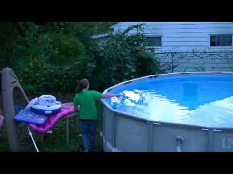 winterizing our intex above ground pool-chemicals and