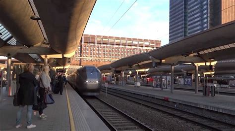 Oslo, Norway - Flytoget Airport Express arrives at Oslo