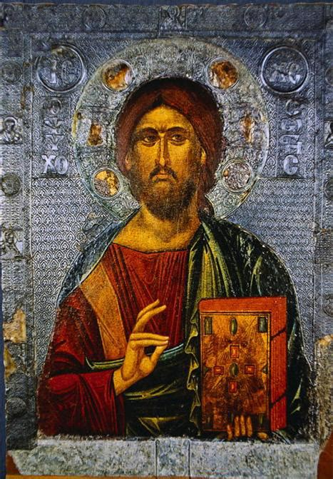 Icon Painting of Jesus Christ as Pantocrator   St