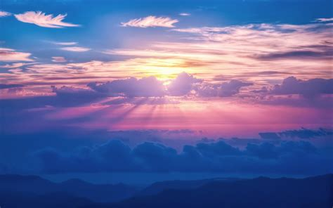 Sunrays Sky Clouds Wallpapers | HD Wallpapers | ID #16613