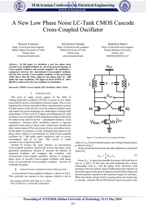 (PDF) A new low phase noise LC-tank CMOS cascode Cross