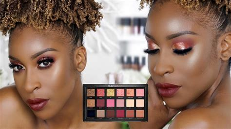 Huda Beauty Rose Gold Palette Review + Tutorial - YouTube