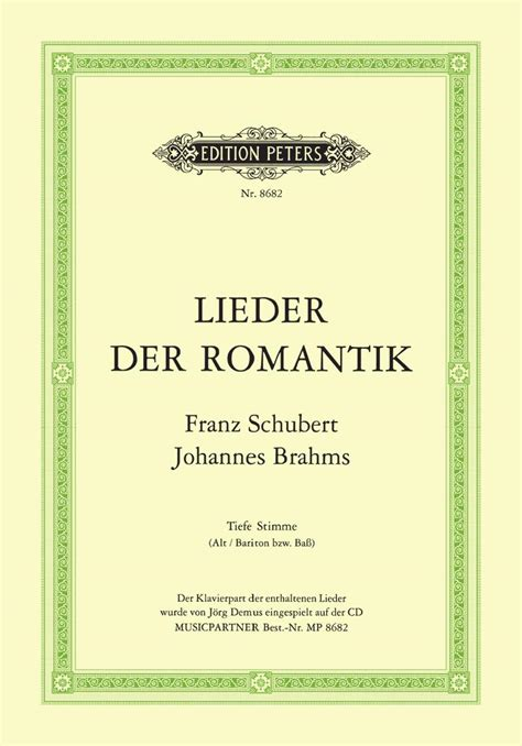 Selected Lieder by Schubert and Brahms   Edition Peters UK