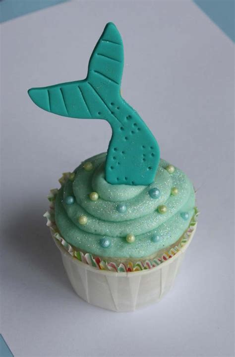 Mermaid Tail Fondant Cupcake Toppers by Clementinescupcakes
