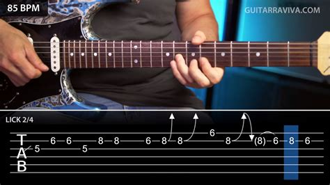 Rosanna - Toto Guitar Solo with tabs normal speed and slow