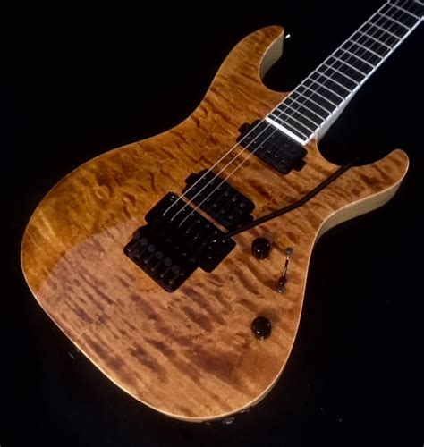 Vola Ares FR EA Yellow Tiger Eye Exotic Maple Top Guitar W