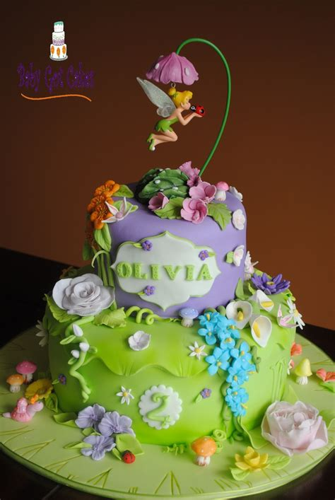 Tinker Bell Fantasy Garden Two Tier - CakeCentral
