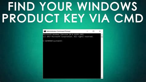 Find Your Windows Product Key using CMD - YouTube