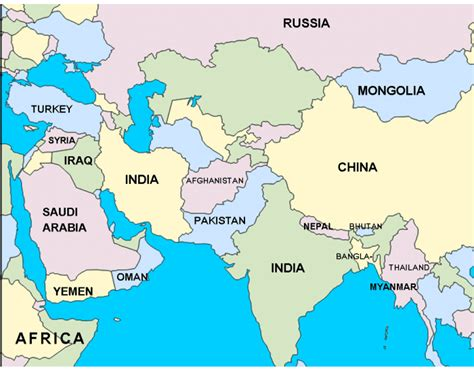 Central Asia Map Quiz