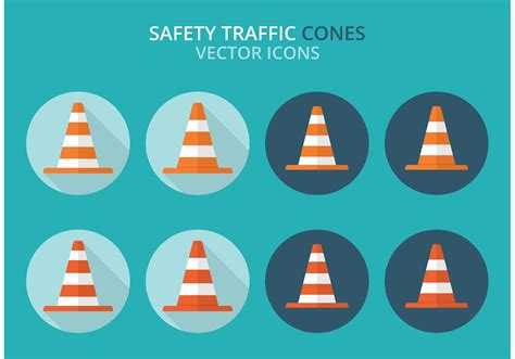 Safety Traffic Cones Vector Pack - Download Free Vector